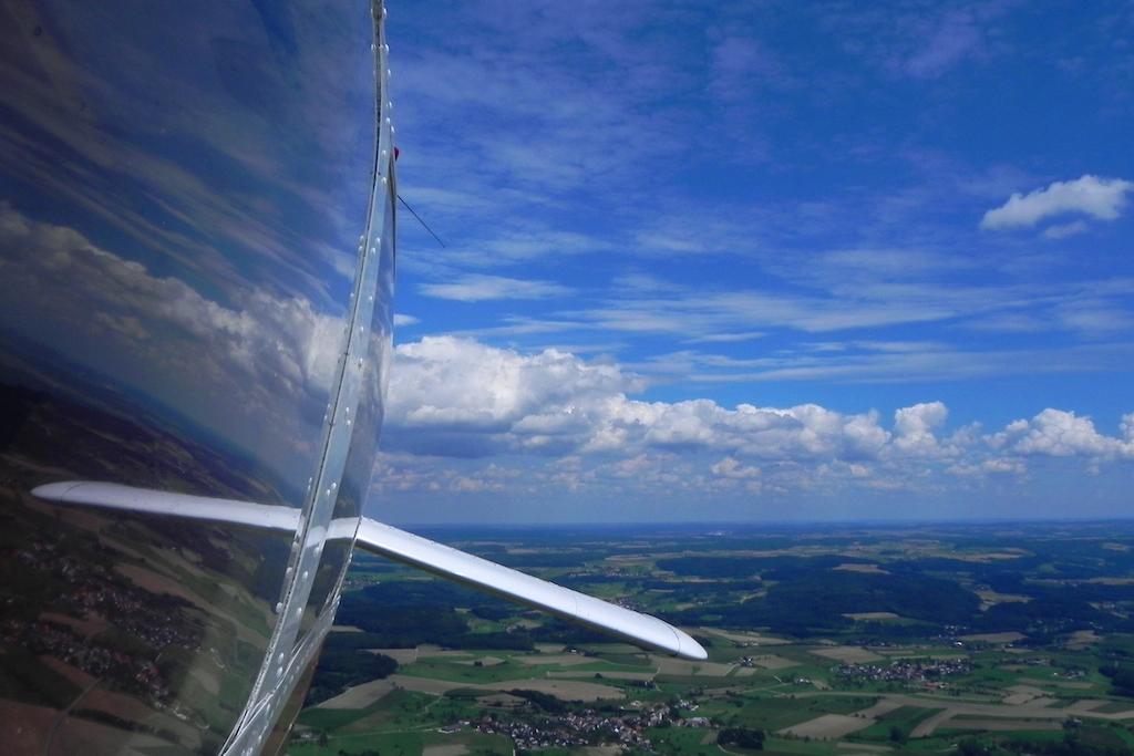 D-ENPA im Kurvenflug
