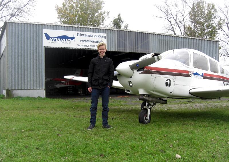 Erster Alleinflug Kilian Kleemann