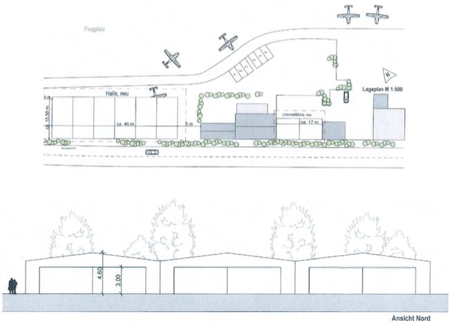 Die neuen Hangarplätze der KONAIR am Fluplatz Konstanz